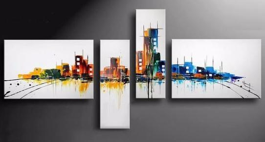 tableau moderne city peps - Tableaux Modernes Colors