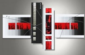 Tableaux design rouge Day by Day
