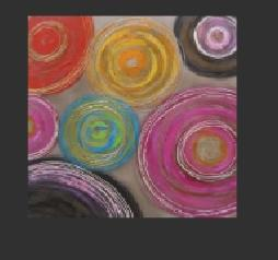 Tableau abstrait Circles colors