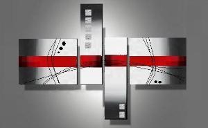 Tableau abstrait d coration moderne art abstrait ejrac for Cadre contemporain et moderne