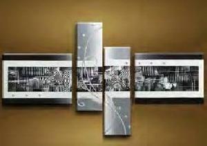 Tableaux Design Abstraits Coloris Noir Et Blanc