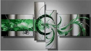 Tableaux design vert green circles