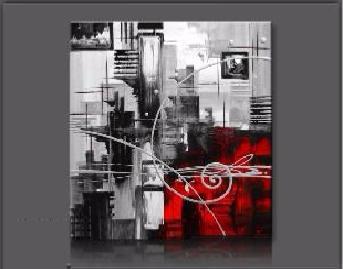 tableaux design abstrait carr gris rouge ejrac. Black Bedroom Furniture Sets. Home Design Ideas