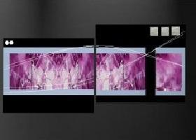 tableaux design peint main ejrac en 2 parties diptyque. Black Bedroom Furniture Sets. Home Design Ideas
