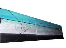 Tableau design bleu en triptyque abstrait ejrac - Tableau bleu turquoise ...