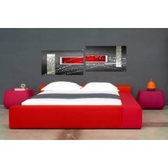 tableaux design rouge abstrait et modernes peints par ejrac. Black Bedroom Furniture Sets. Home Design Ideas