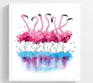 Tableau design Flamingos