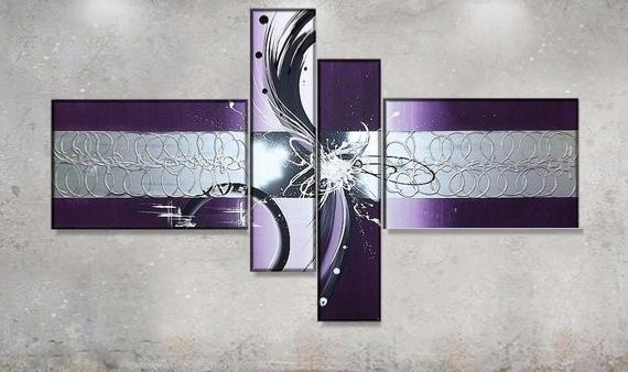 Tableau design Violet metal II