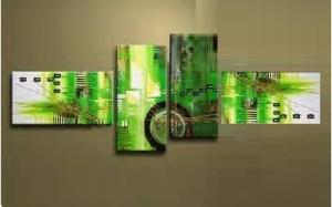 Tableaux design absrait green glory