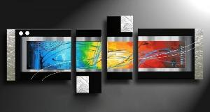 Tableaux design multicolore Rainbow