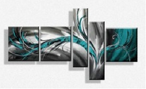 tableaux tritpyqe design bleu turquoise et gris abstrait myla by ejrac. Black Bedroom Furniture Sets. Home Design Ideas