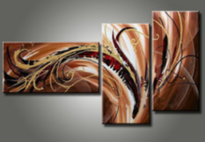 Tableau design triptyque choco brownie