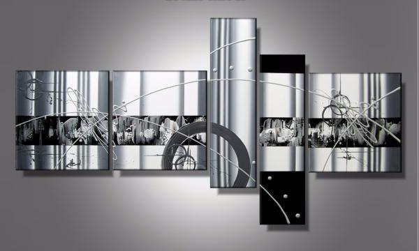tableau abstrait noir et blanc luxy