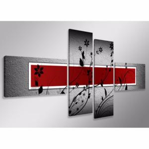 Tableau design red flowers