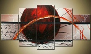 Tableaux design red ball
