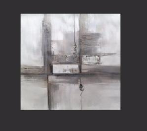 Tableau contemporain gris metal Ylena