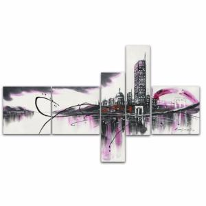 Tableau design City Dream fushia violet