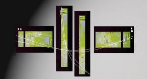 Tableaux design funny green