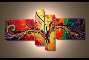 Tableau triptyque multicolor - Tableaux tryptiques contemporains ...
