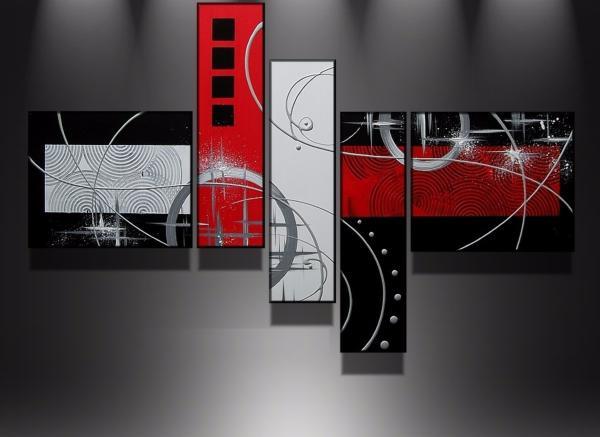 Tableaux Modernes Rouge Metal Hely