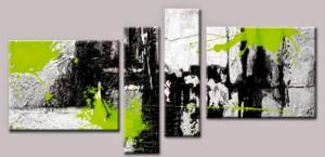 Tableaux design vert abstrait peintre contemporain ejrac - Tableau vert anis ...