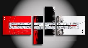 Tableaux design Impact Red Black & White