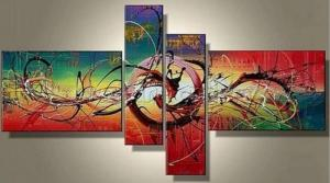 Tableaux design multicolore art