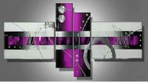 Tableaux design Star fushia violet