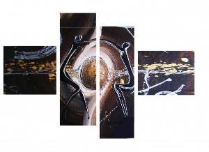 Tableau design silouhettes sphere moderne peint main ejrac for Architecture equilibre