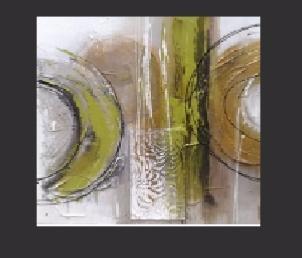 Tableaux design abstrait carr vert metal - Tableau vert anis ...
