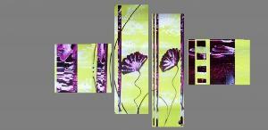Tableaux design vert abstrait peintre contemporain EJRAC.