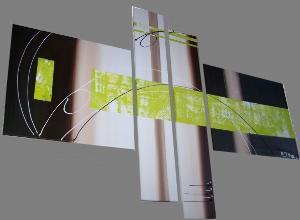 Tableaux abstrait chocolat et marron.