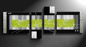 Tableau deco tableaux contemporain d coration murale - Tableau vert anis ...