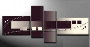 Tableaux design White Purpple