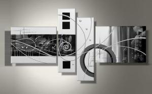 Tableaux design Whites Circles