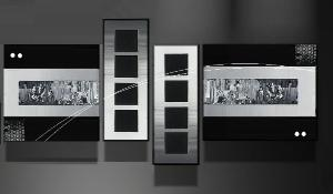 Tableaux design Chrome metal
