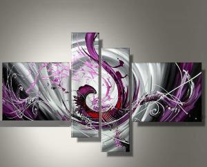 Tableau abstrait d coration moderne art abstrait ejrac for Tableaux en plusieurs parties